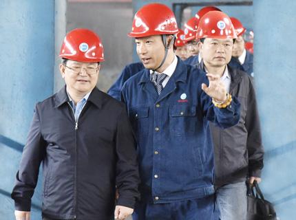 江西省委副书记、省长鹿心社莅临萍安钢公司考察指导工作( 20160421)